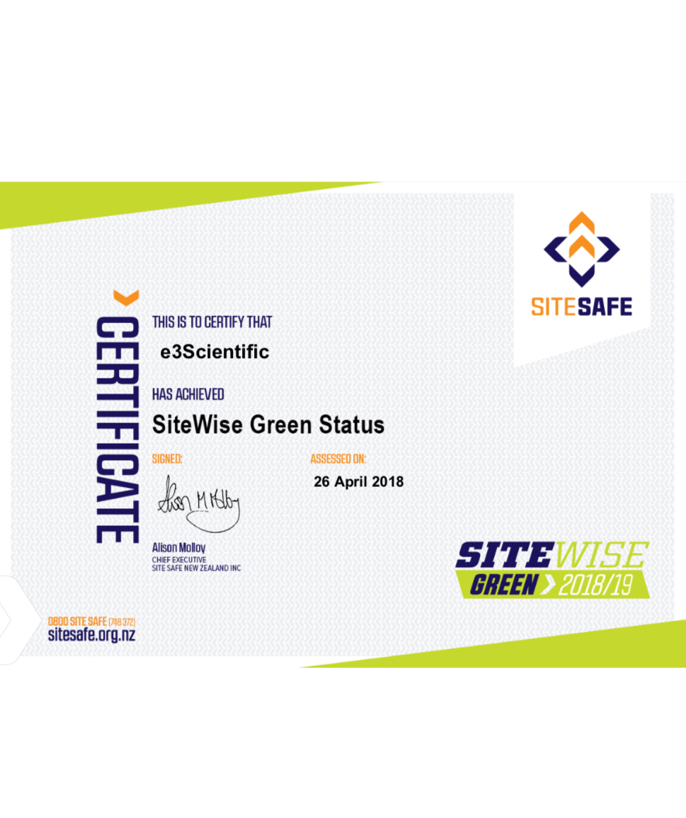 e3Scientific PEQUAL Approved and SiteWise Green